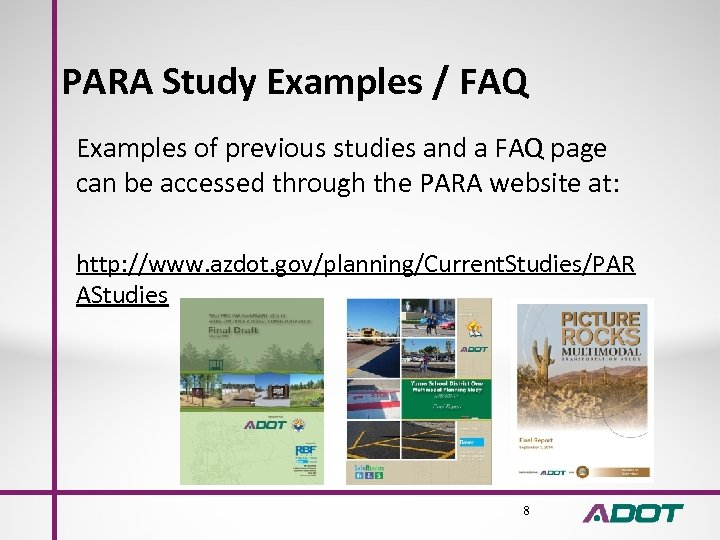 PARA Study Examples / FAQ Examples of previous studies and a FAQ page can