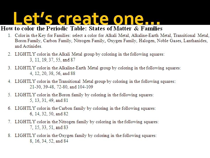 Let's create one…
