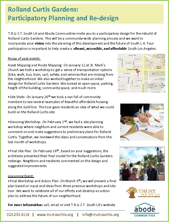 Rolland Curtis Gardens: Participatory Planning and Re-design T. R. U. S. T. South LA