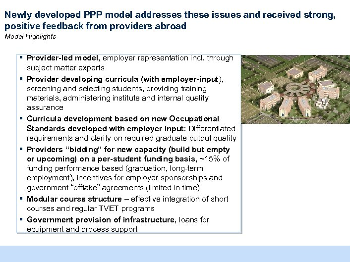 Newly developed PPP model addresses these issues and received strong, positive feedback from providers