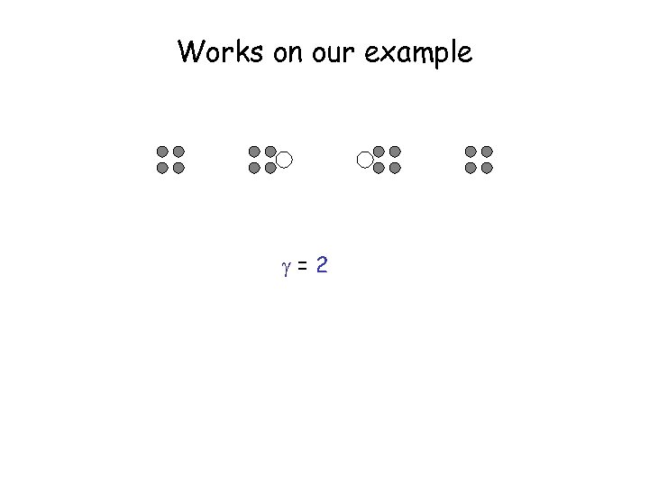 Works on our example =2