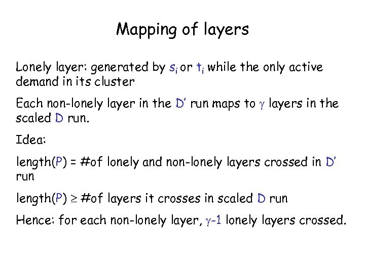 Mapping of layers Lonely layer: generated by si or ti while the only active