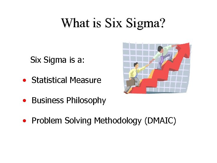 What is Six Sigma? Six Sigma is a: • Statistical Measure • Business Philosophy