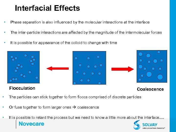 Interfacial Effects • Phase separation is also influenced by the molecular interactions at the