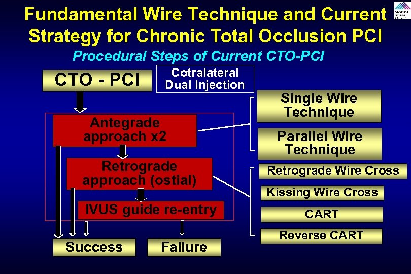 Fundamental Wire Technique and Current Strategy for Chronic Total Occlusion PCI Procedural Steps of
