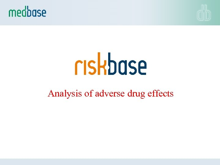 Analysis of adverse drug effects