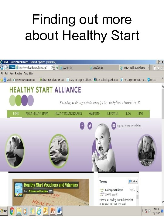 Finding out more about Healthy Start