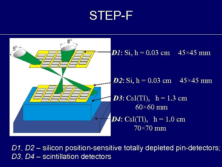 STEP-F D 1: Si, h = 0. 03 cm 45× 45 mm D 2: