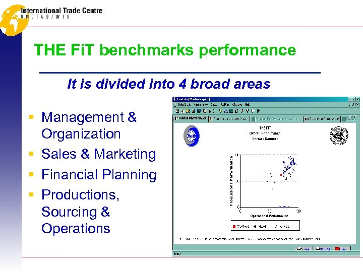 THE Fi. T benchmarks performance It is divided into 4 broad areas § Management