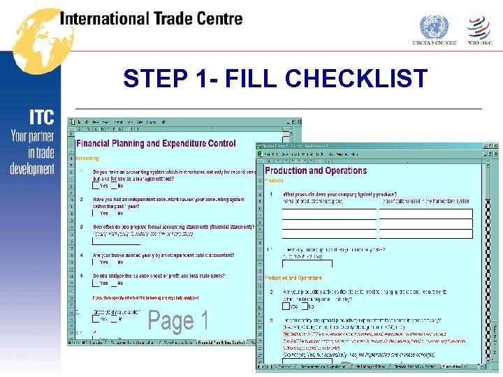 STEP 1 - FILL CHECKLIST THE Fi. T
