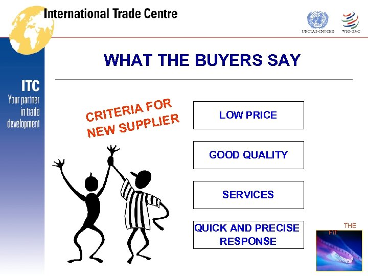 WHAT THE BUYERS SAY R RIA FO CRITE R PPLIE U NEW S LOW