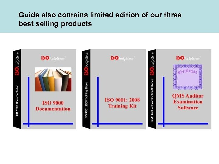 Guide also contains limited edition of our three best selling products