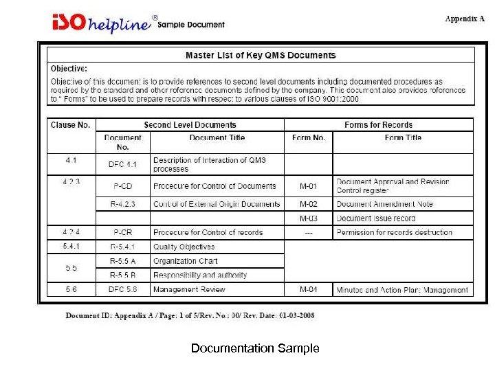 Documentation Sample