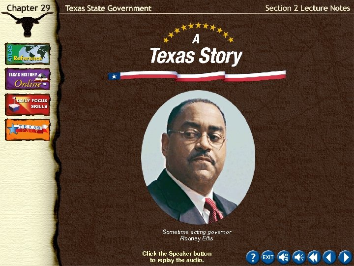 Sometime acting governor Rodney Ellis Click the Speaker button to replay the audio.