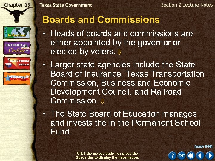 Boards and Commissions • Heads of boards and commissions are either appointed by the