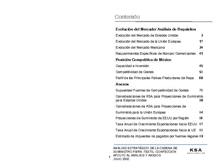 Contenido Evolución del Mercado/ Análisis de Requisitos Evolución del Mercado de Estados Unidos 3