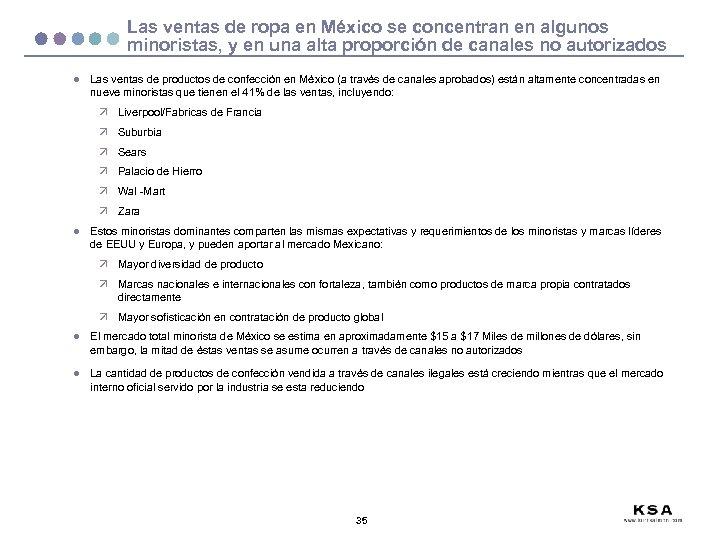 Las ventas de ropa en México se concentran en algunos minoristas, y en una