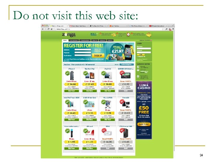 Do not visit this web site: 24
