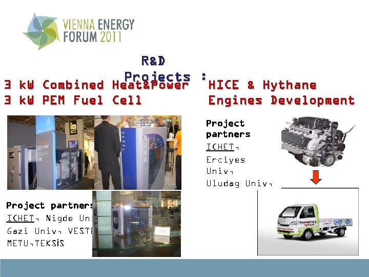 R&D Projects : 3 k. W Combined Heat&Power 3 k. W PEM Fuel Cell