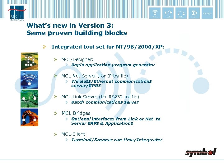 What's new in Version 3: Same proven building blocks Integrated tool set for NT/98/2000/XP: