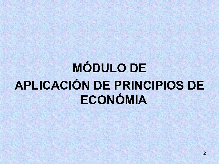 MÓDULO DE APLICACIÓN DE PRINCIPIOS DE ECONÓMIA 2