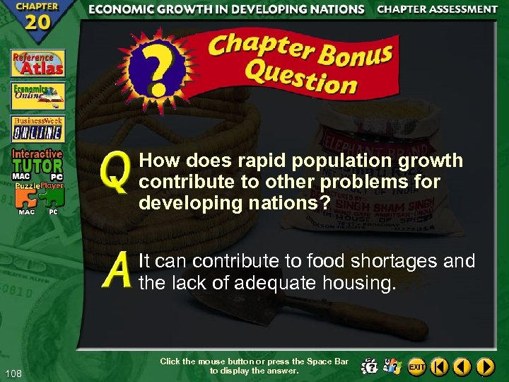 How does rapid population growth contribute to other problems for developing nations? It can