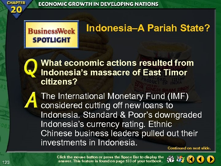 Indonesia–A Pariah State? What economic actions resulted from Indonesia's massacre of East Timor citizens?