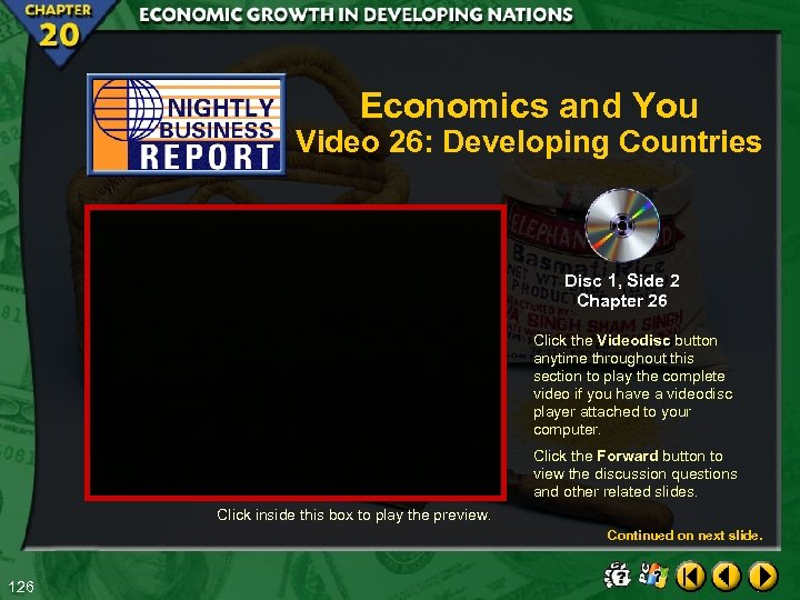 Economics and You Video 26: Developing Countries Disc 1, Side 2 Chapter 26 Click