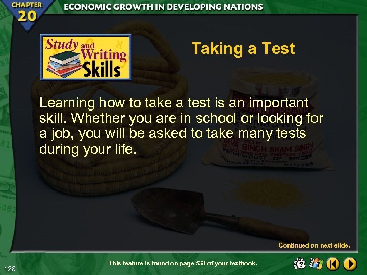 Taking a Test Learning how to take a test is an important skill. Whether