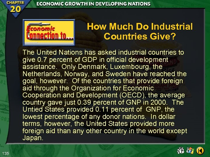 How Much Do Industrial Countries Give? The United Nations has asked industrial countries to