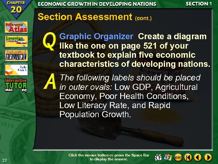 Section Assessment (cont. ) Graphic Organizer Create a diagram like the on page 521