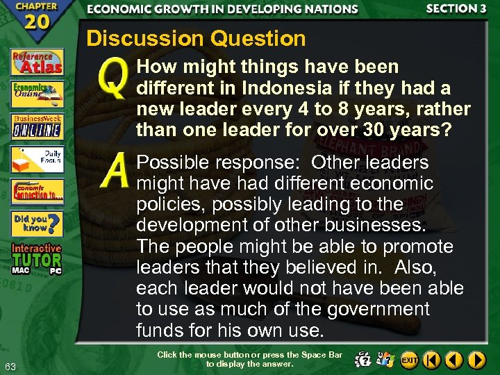 Discussion Question How might things have been different in Indonesia if they had a
