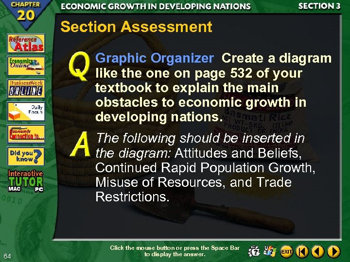 Section Assessment Graphic Organizer Create a diagram like the on page 532 of your