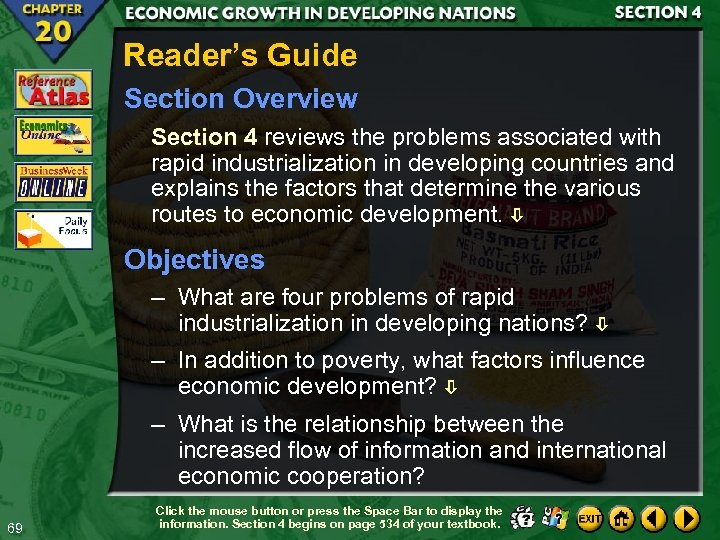 Reader's Guide Section Overview Section 4 reviews the problems associated with rapid industrialization in