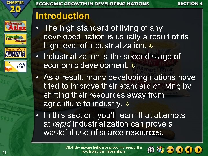 Introduction • The high standard of living of any developed nation is usually a