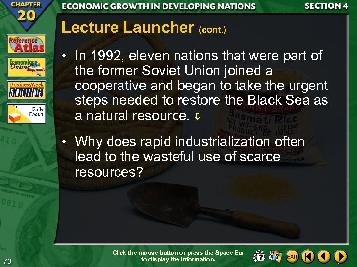 Lecture Launcher (cont. ) • In 1992, eleven nations that were part of the