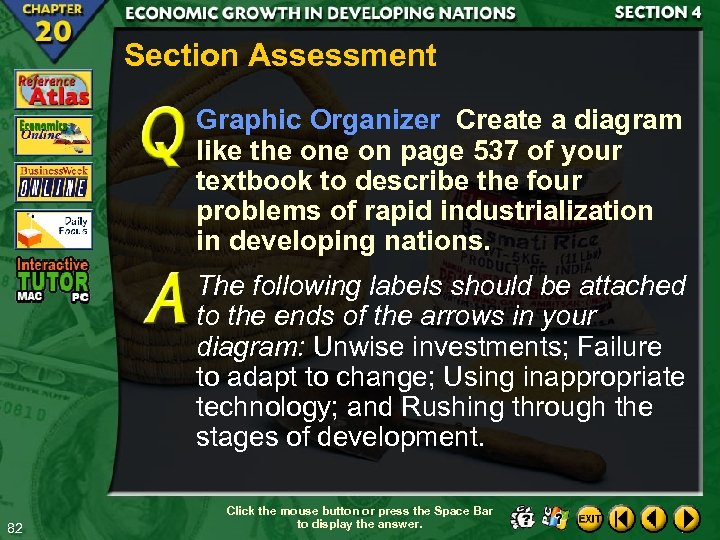 Section Assessment Graphic Organizer Create a diagram like the on page 537 of your