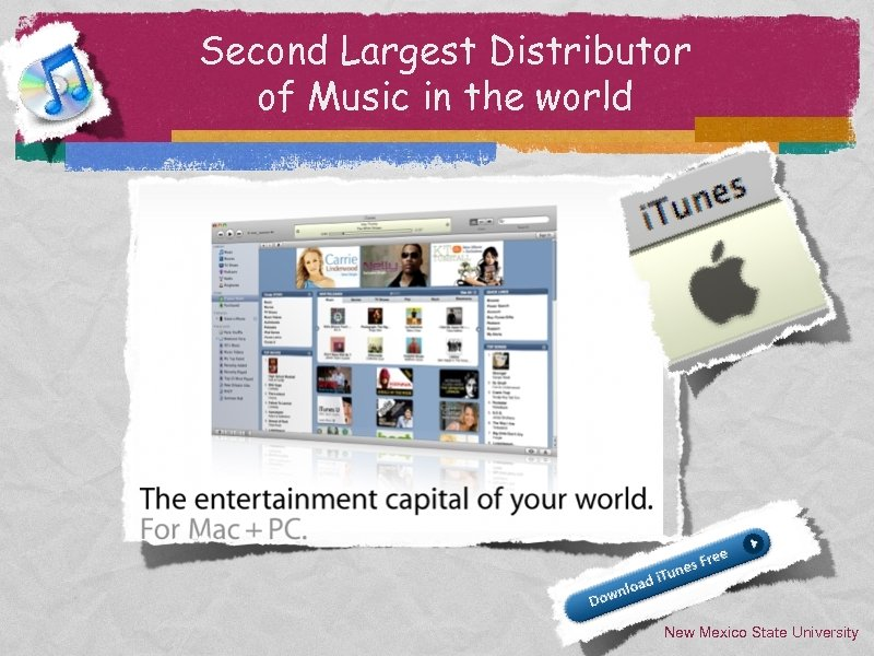 Second Largest Distributor of Music in the world New Mexico State University