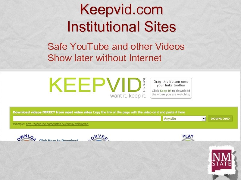 Keepvid. com Institutional Sites Safe You. Tube and other Videos Show later without Internet