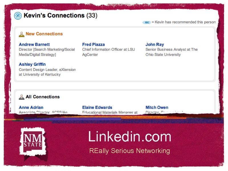 Linkedin. com REally Serious Networking