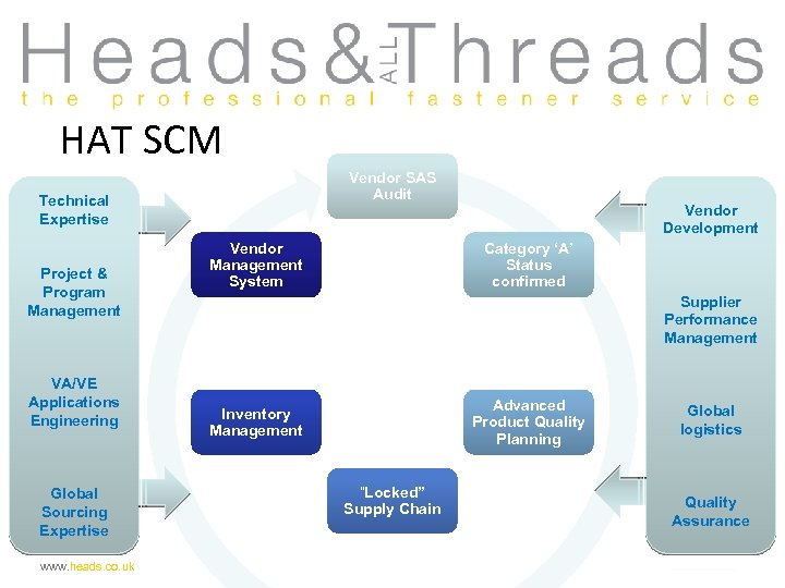 HAT SCM Vendor SAS Audit Technical Expertise Project & Program Management VA/VE Applications Engineering