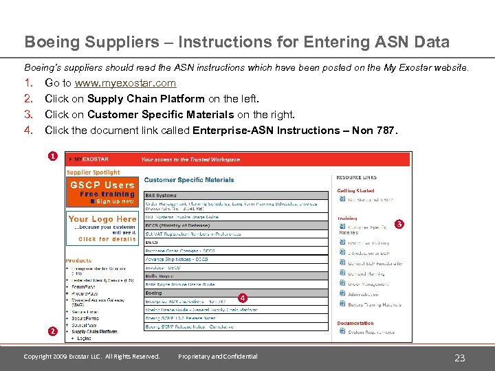 Boeing Suppliers – Instructions for Entering ASN Data Boeing's suppliers should read the ASN