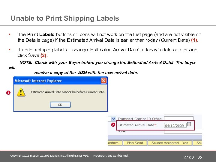 Unable to Print Shipping Labels • The Print Labels buttons or icons will not
