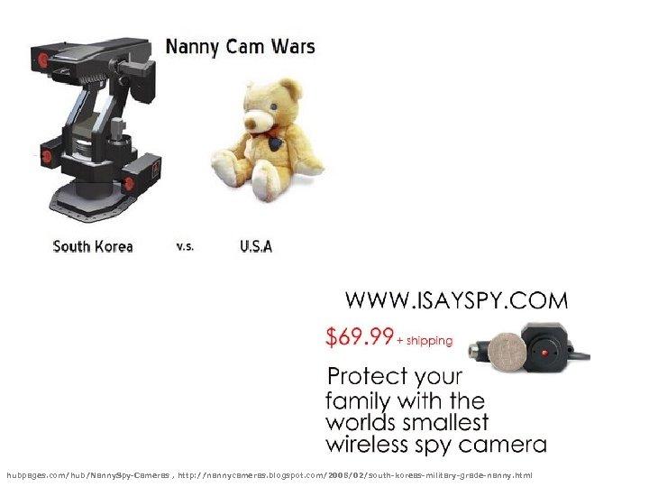 hubpages. com/hub/Nanny. Spy-Cameras , http: //nannycameras. blogspot. com/2008/02/south-koreas-military-grade-nanny. html