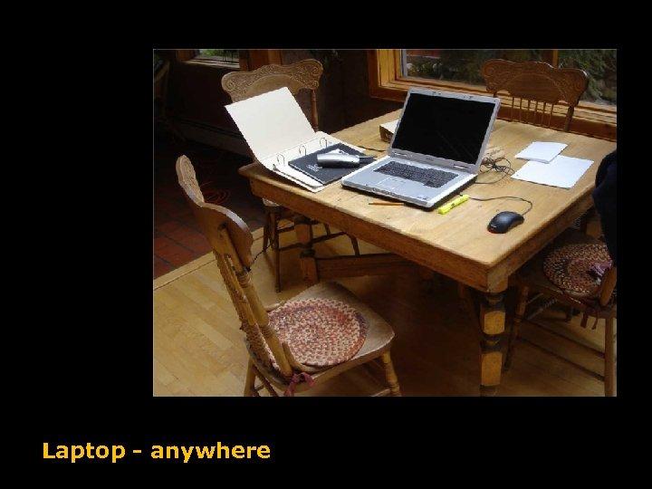 Laptop - anywhere
