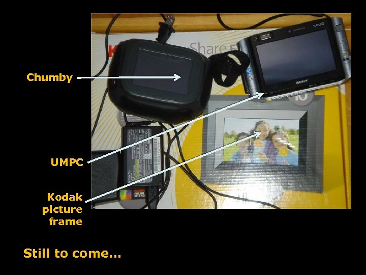 Chumby UMPC Kodak picture frame Still to come…