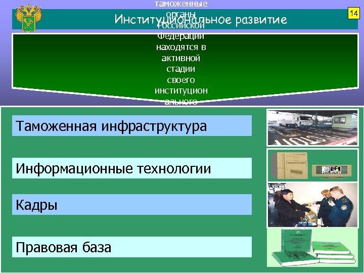 Таможенная таможенные органы Институциональное Российской Федерации находятся в активной стадии своего институцион ального развития