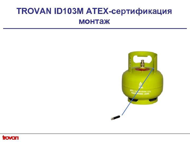 TROVAN ID 103 M ATEX-сертификация монтаж