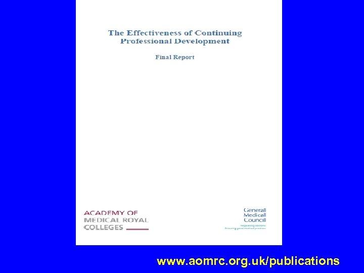 www. aomrc. org. uk/publications