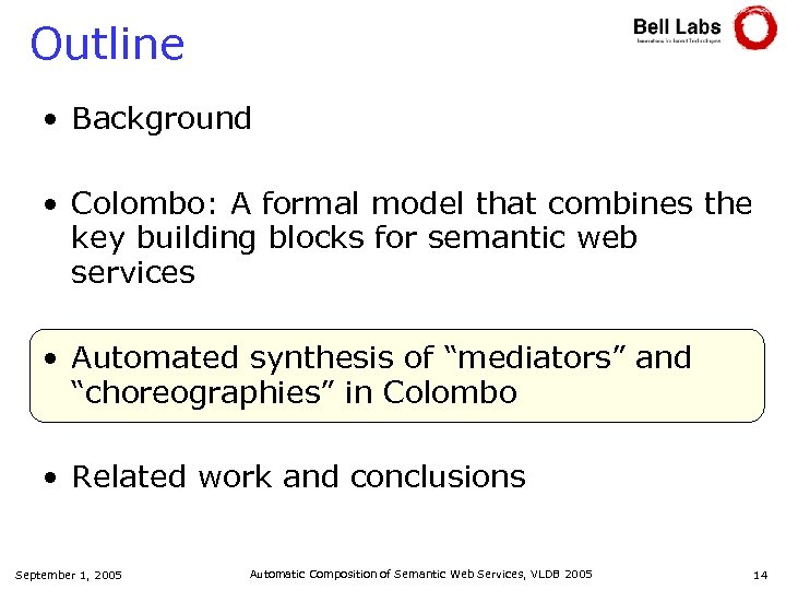 Outline • Background • Colombo: A formal model that combines the key building blocks